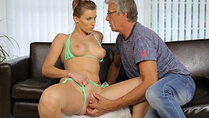 Sex with her boyfriend´s father after swimming pool