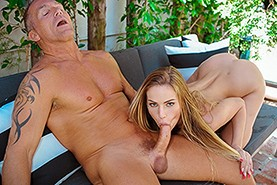 Pool sex with a buffoon's father
